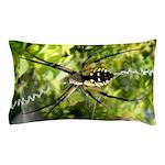 Garden Spider Awaits sq Pillow Case