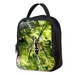Garden Spider Awaits sq Neoprene Lunch Bag