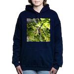 Garden Spider Awaits sq Women's Hooded Sweatshirt