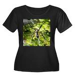 Garden Spider Awaits sq Plus Size T-Shirt