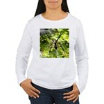 Garden Spider Awaits sq Long Sleeve T-Shirt