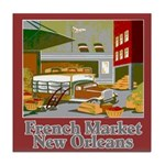 French Market Tile Coaster