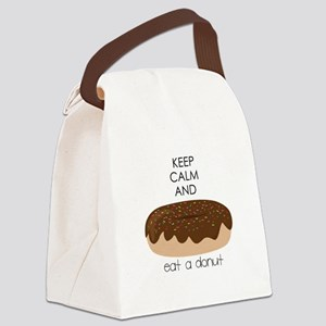 Eat A Donut Canvas Lunch Bag