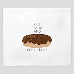 Eat A Donut King Duvet