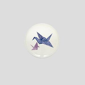 Origami Crane Mini Button