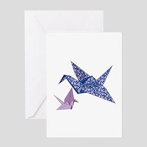 Origami crane greeting cards cafepress origami crane greeting cards m4hsunfo