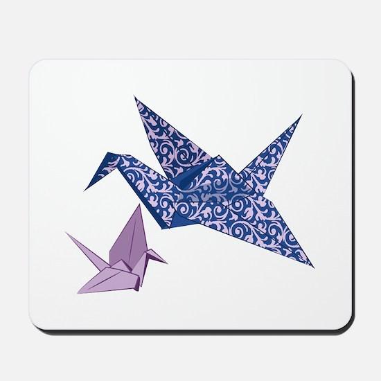 Origami Crane Mousepad