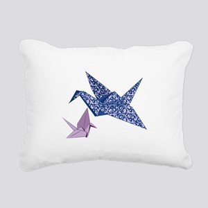 Origami Crane Rectangular Canvas Pillow