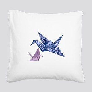 Origami Crane Square Canvas Pillow