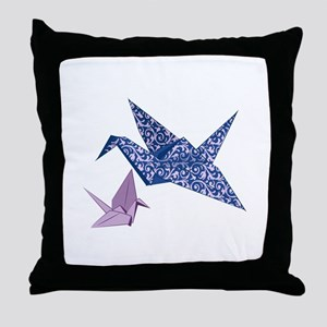 Origami Crane Throw Pillow