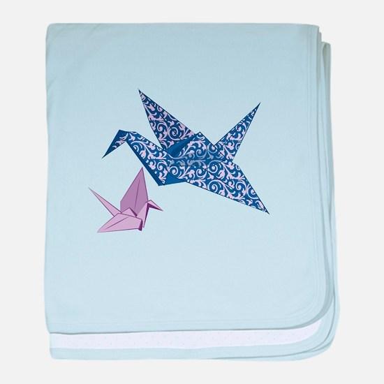 Origami Crane baby blanket