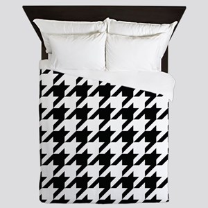 Houndstooth Black and White Classic Pattern Queen
