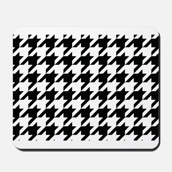 Houndstooth Black and White Classic Pattern Mousep
