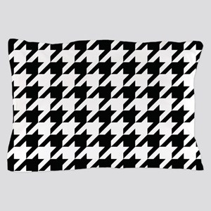 Houndstooth Black and White Classic Pattern Pillow
