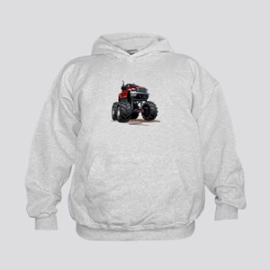 Red Monster Truck Kids Hoodie
