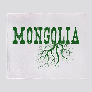 Mongolia Roots Throw Blanket