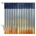 Rusty Tin Distressed Metal Shower Curtain