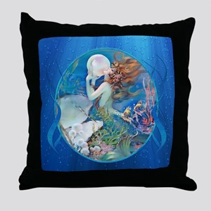 Clive Pearl Mermaid Throw Pillow