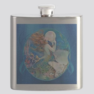 Clive Pearl Mermaid Right Flask