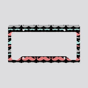 Funny Girly Colorful Patterns License Plate Holder
