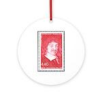 Rene Descartes Christmas Tree Ornament (Round)