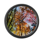Autumns Trees Painting Large Wall Clock