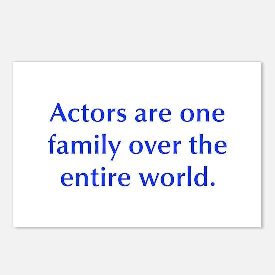 Actors are one family over the entire world Postca