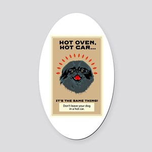Don't Leave Oval Car Magnet