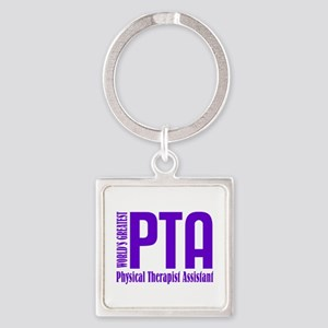 Physical Therapist Assistant Square Keychain
