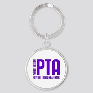 Physical Therapist Assistant Round Keychain