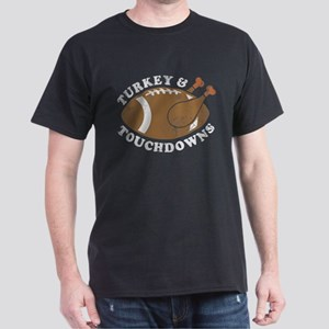 Thanksgiving Turkey and Touchdowns T-Shirt