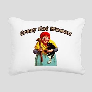 Crazy cat woman Rectangular Canvas Pillow