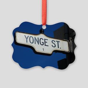 Toronto's Yonge Street Picture Ornament
