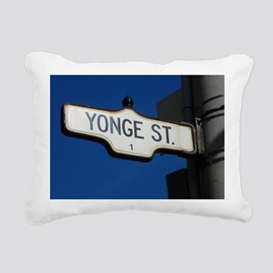 Toronto's Yonge Street Rectangular Canvas Pillow