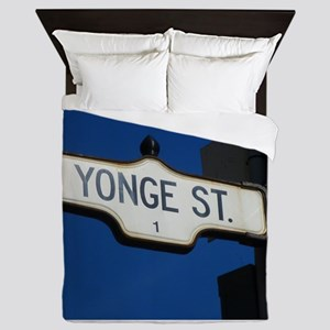 Toronto's Yonge Street Queen Duvet