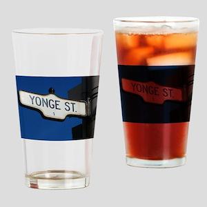 Toronto's Yonge Street Drinking Glass