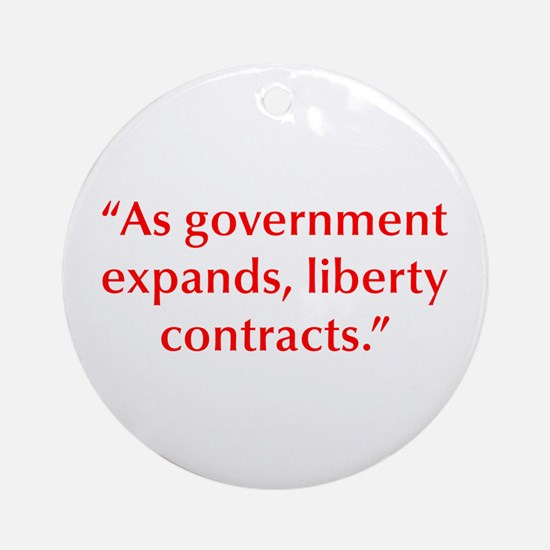 As government expands liberty contracts Ornament (