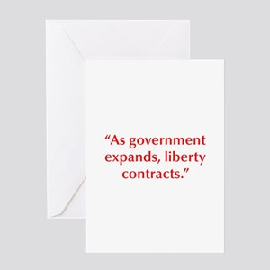 As government expands liberty contracts Greeting C