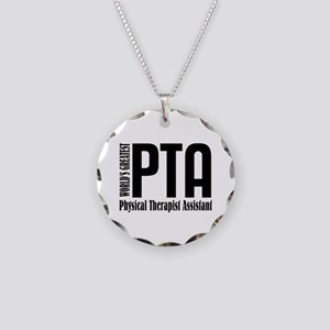 Physical Therapist Assistant Necklace Circle Charm
