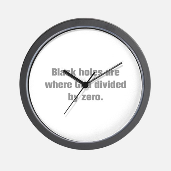 Black holes are where God divided by zero Wall Clo