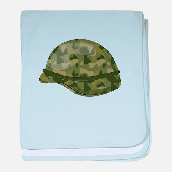 Mililtary Helmet baby blanket