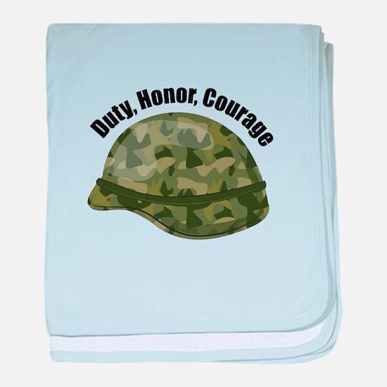 Duty Honor Courage baby blanket
