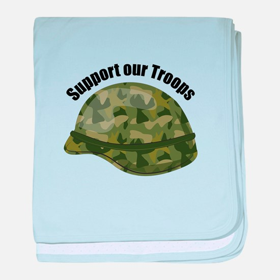 Support Our Troops baby blanket