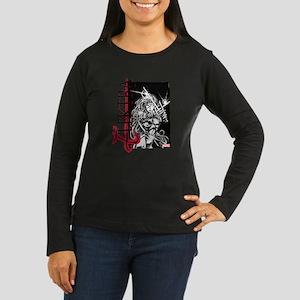 Elektra Black & W Women's Long Sleeve Dark T-Shirt