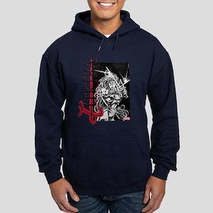 Elektra Black & White Hoodie (dark)