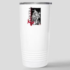 Elektra Black & White Stainless Steel Travel Mug