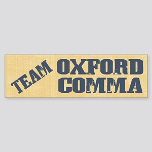 Team Oxford Comma Sticker (Bumper)