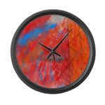 Crazy Vibrance Abstract Large Wall Clock