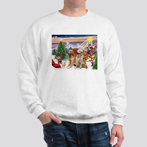 Santa's Treats for His Two Goldens Sweatshirt
