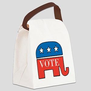 Vote Republican Canvas Lunch Bag
